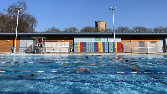 Outdoor swimmers take to social media after reopening day delight