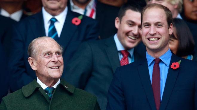 Prince Philip and the Swim England patron Prince William
