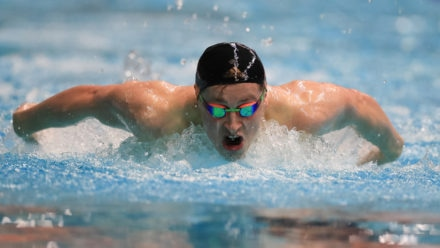Stephen Clegg on top of the world after record-breaking swim at BPSIM