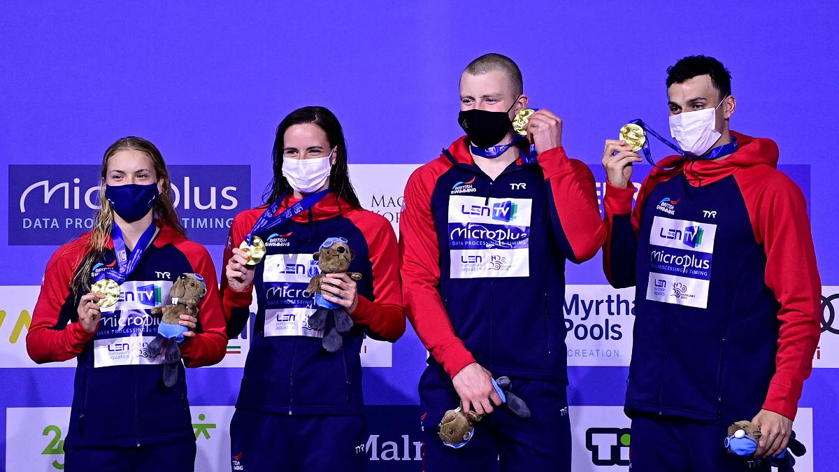 British Mixed 4x100m Medley Relay team win gold at European Championships 2021