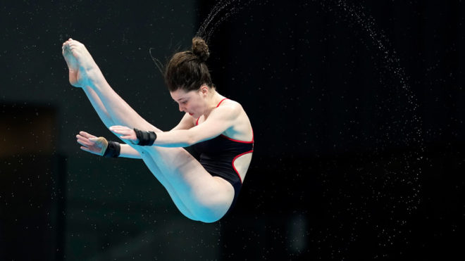 Andrea Spendolini-Sirieix narrowly misses podium finish at Diving World Cup