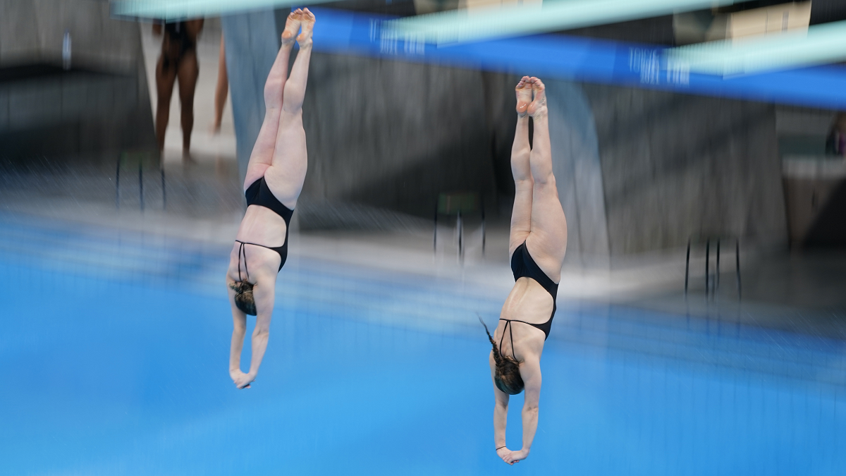 Katherine Torrance and Grace Reid at FINA Diving World Cup 2021