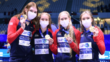 Three British medals on opening day of swimming at European Championships