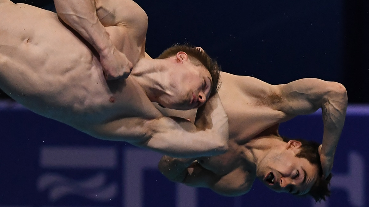 Jack Laugher and Dan Goodfellow finished sixth in the Men's 3m Springboard Synchro at the European Aquatics Championships in Hungary
