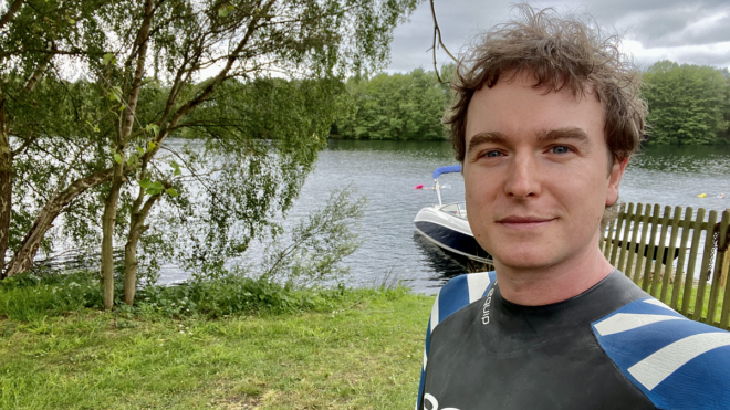 Outdoor swimming ambassador Nick Hope says it's his 'form of meditation'