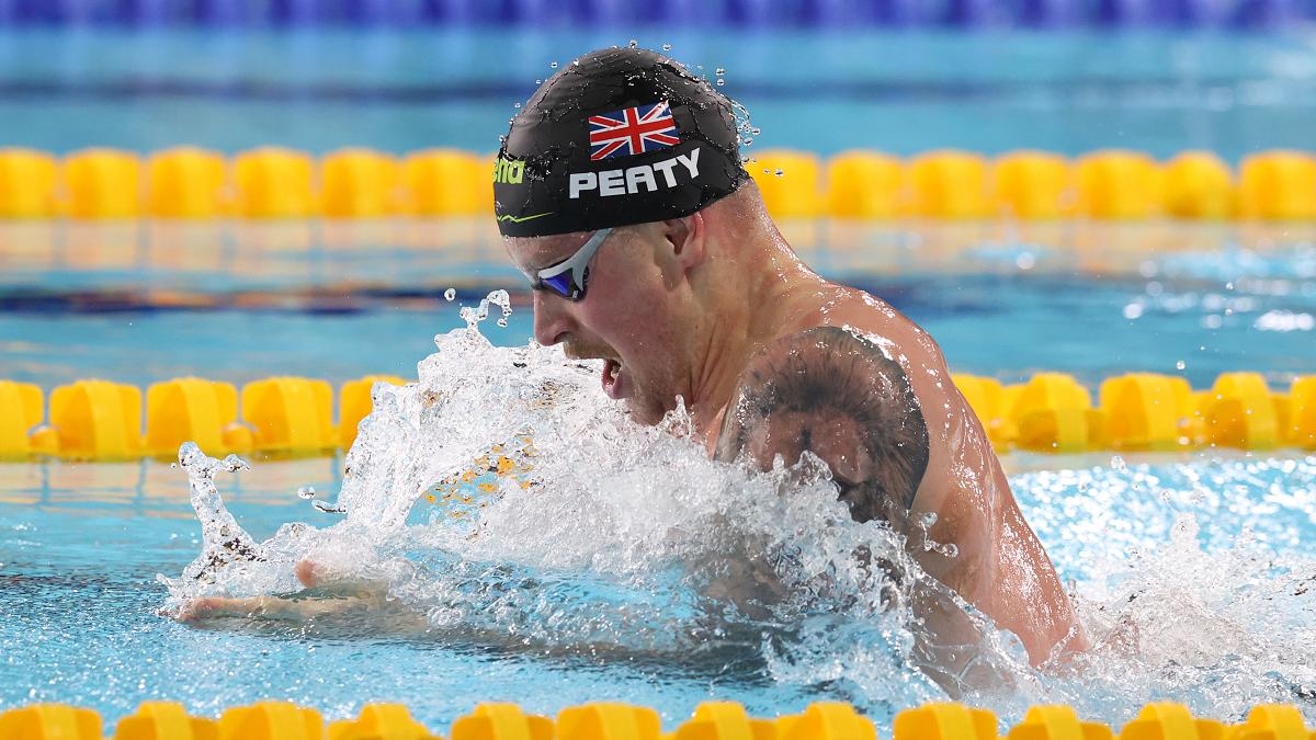 Adam Peaty at the British Swimming Glasgow Meet 2021