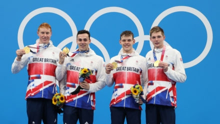 Record-breaking relay team seal Britain's third Olympic swimming gold