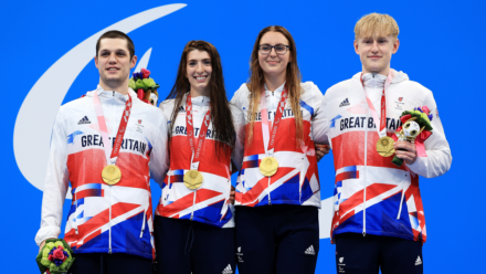 World record-breaking relay team take Paralympic gold in Tokyo