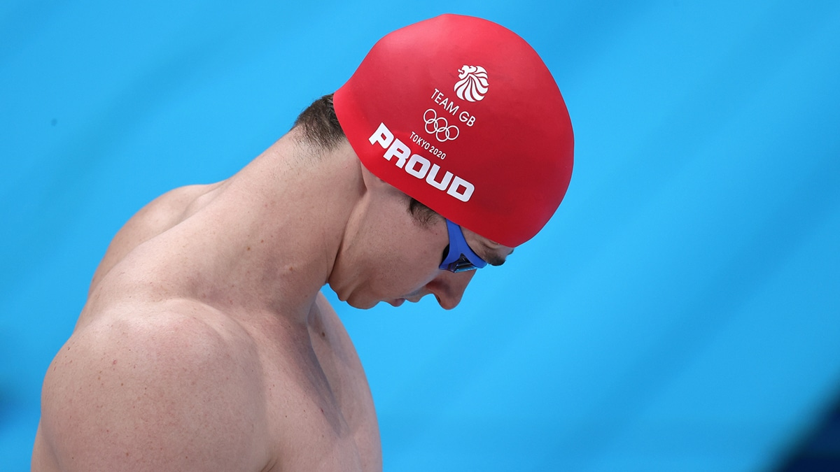 Ben Proud before his 50m Freestyle Olympic Games final