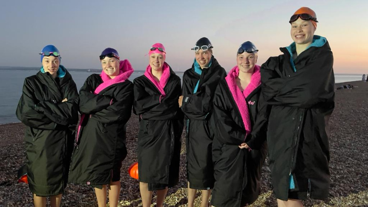 Teenagers clock quick English Channel swim ... and raise thousands for charity