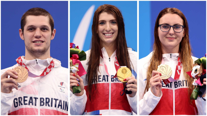 British backstroke swimmers shine as GB win gold and two bronze medals