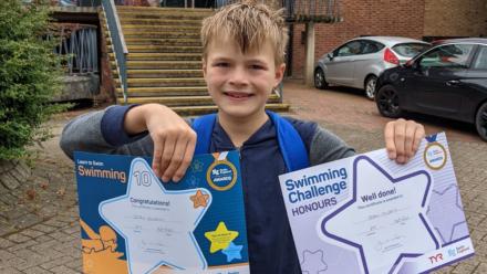 Swim mum explains 'essential' reason her son continues swimming lessons