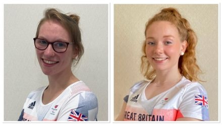 Becky Redfern and Zara Mullooly flying the flag for Britain in day eight finals