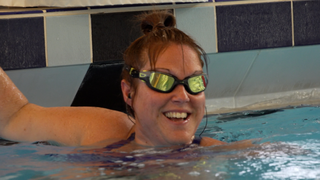 Swimming has been a 'saviour' for Rachel's mental and physical health